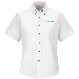 Honda Womens Short Sleeve Poplin Dress Shirt - 1284WH-