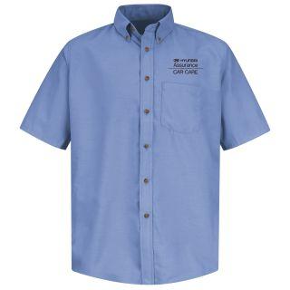 Hyundai Assurance Car Care Mens Short Sleeve Poplin Dress Shirt - 1313LB-