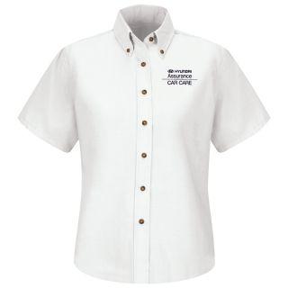 Hyundai Assurance Car Care Womens Short Sleeve Poplin Dress Shirt - 1318WH-