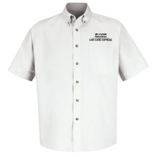 Hyundai Assurance Car Care Express Mens Short Sleeve Meridian Performance Twill Shirt - 1332WH-