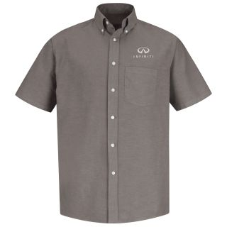Infiniti Mens Short Sleeve Executive Oxford Dress Shirt - 1349GY-