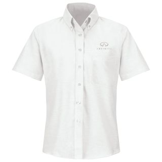 Infiniti Womens Short Sleeve Executive Oxford Dress Shirt - 1359WH-