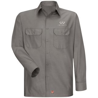 Red Kap® Branded Industrial Auto Infiniti M LS Ripstop Workshirt - GY-Red kap