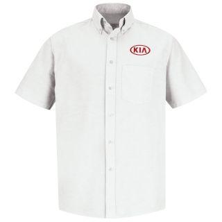 Kia M SS Oxford Shirt -WH-Red Kap®