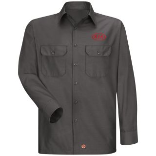 Red Kap® Branded Industrial Auto Kia M LS Ripstop Workshirt - CH-Red kap