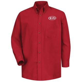 Red Kap® Branded Industrial Auto Kia M LS Poplin Shirt - RD-Red kap