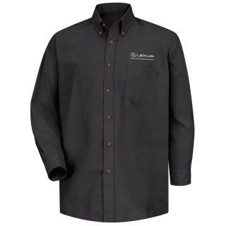 Lexus Mens Long Sleeve Poplin Dress Shirt - 1399BK-Red Kap®