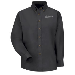 Lexus Womens Long Sleeve Poplin Dress Shirt - 1403BK-Red Kap®