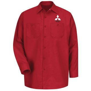 Red Kap® Branded Industrial Auto Mitsubishi M LS Workshirt - RD-Red kap