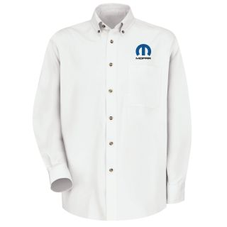 Red Kap® Branded Industrial Auto Mopar M LS Twill Shirt - WH-Red kap