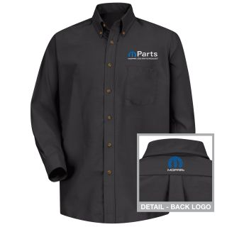 Mopar Mens Short Sleeve Poplin Dress Shirt - 1487BK-