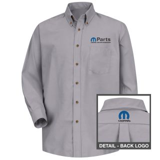Mopar Mens Short Sleeve Poplin Dress Shirt - 1493SV-