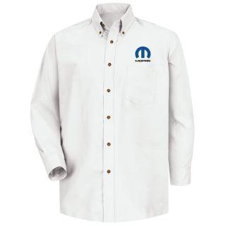 Mopar M LS Poplin Shirt - WH-Red Kap®