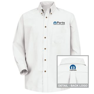 Mopar Mens Short Sleeve Poplin Dress Shirt - 1496WH-