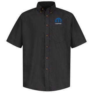 Mopar Mens Short Sleeve Poplin Dress Shirt - 1497BK-