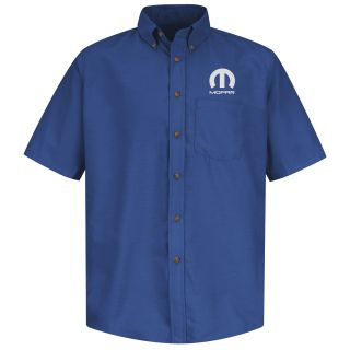 Mopar Mens Short Sleeve Poplin Dress Shirt - 1500RB-