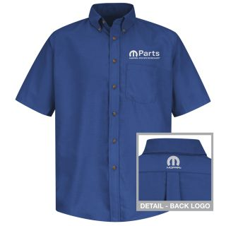 Mopar Mens Short Sleeve Poplin Dress Shirt - 1502RB-