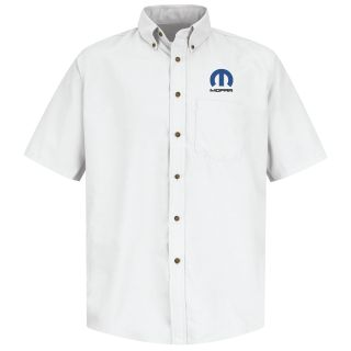 Mopar Mens Short Sleeve Poplin Dress Shirt - 1506WH-