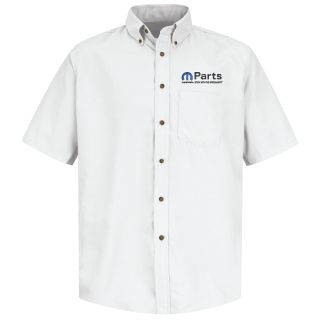 Mopar Mens Short Sleeve Poplin Dress Shirt - 1507WH-
