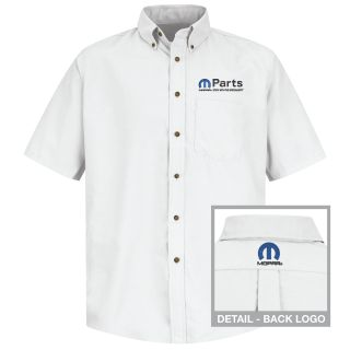 Mopar Mens Short Sleeve Poplin Dress Shirt - 1508WH-