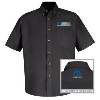 Mopar Express Lane Mens Short Sleeve Meridian Performance Twill Shirt - 1532BK-Red Kap®