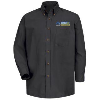 Mopar Express Lane Mens Long Sleeve Poplin Dress Shirt - 1540BK-Red Kap®