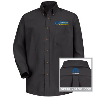 Mopar Express Lane Mens Long Sleeve Poplin Dress Shirt - 1541BK-