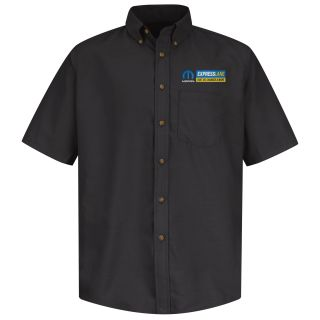 Mopar Express Lane Mens Long Sleeve Poplin Dress Shirt - 1543BK-