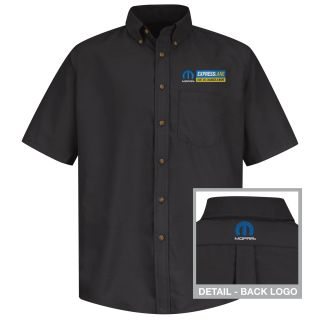 Mopar Express Lane Mens Long Sleeve Poplin Dress Shirt - 1544BK-