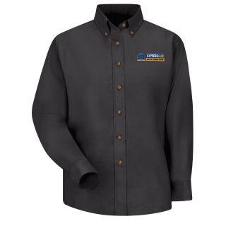 Mopar Express Lane Womens Long Sleeve Poplin Dress Shirt - 1546BK-