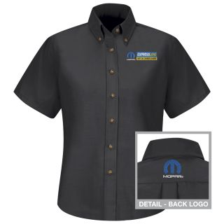Mopar Express Lane Womens Long Sleeve Poplin Dress Shirt - 1550BK-