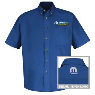 Mopar Express Lane Mens Short Sleeve Meridian Performance Twill Shirt - 1556RB-