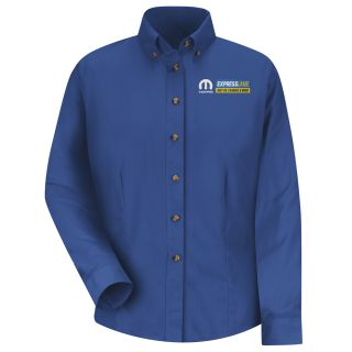 Mopar Express Lane Womens Long Sleeve Meridian Performance Twill Shirt - 1558RB-Red Kap®