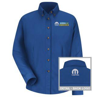 Mopar Express Lane Womens Long Sleeve Meridian Performance Twill Shirt - 1559RB-