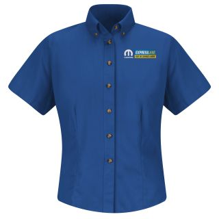 Red Kap® Branded Industrial Auto Mopar Express F SS Twill Shirt - RB-Red kap