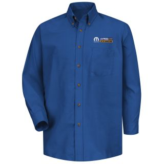Mopar Express Lane Mens Long Sleeve Poplin Dress Shirt - 1564RB-