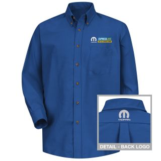 Red Kap® Branded Industrial Auto 1565RB Mopar Express M LS Poplin Shirt - RB-Red kap