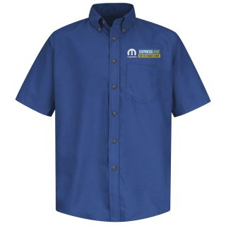 Mopar Express Lane Mens Long Sleeve Poplin Dress Shirt - 1567RB-Red Kap®