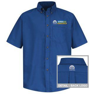 Mopar Express Lane Mens Long Sleeve Poplin Dress Shirt - 1568RB-