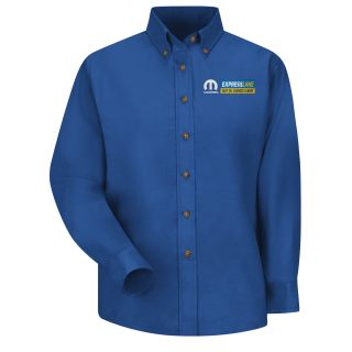 Mopar Express Lane Womens Long Sleeve Poplin Dress Shirt - 1573RB-