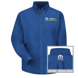 Mopar Express Lane Womens Long Sleeve Poplin Dress Shirt - 1574RB-