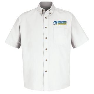 Mopar Express Lane Mens Short Sleeve Meridian Performance Twill Shirt - 1579WH-