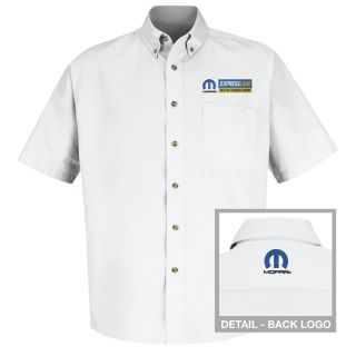 Mopar Express Lane Mens Short Sleeve Meridian Performance Twill Shirt - 1580WH-