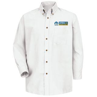 Mopar Express Lane Mens Long Sleeve Poplin Dress Shirt - 1588WH-Red Kap®