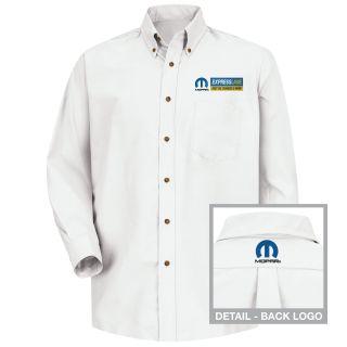 Mopar Express Lane Mens Long Sleeve Poplin Dress Shirt - 1589WH-