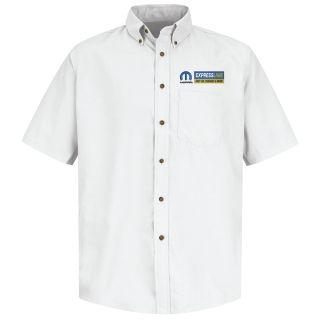 Mopar Express Lane Mens Long Sleeve Poplin Dress Shirt - 1591WH-