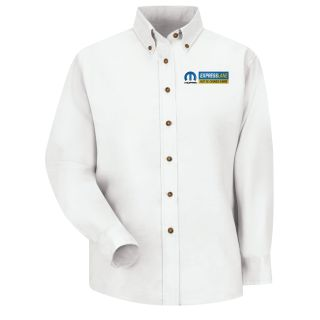 Mopar Express Lane Womens Long Sleeve Poplin Dress Shirt - 1594WH-