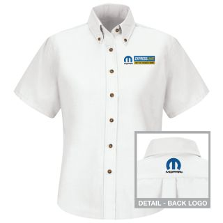 Mopar Express Lane Womens Long Sleeve Poplin Dress Shirt - 1598WH-