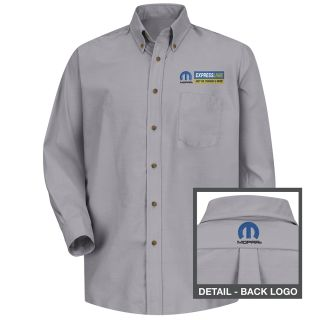 Mopar Express Lane Mens Long Sleeve Poplin Dress Shirt - 1601SV-