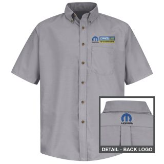 Mopar Express Lane Mens Long Sleeve Poplin Dress Shirt - 1604SV-